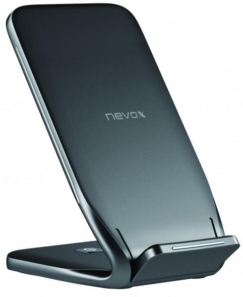 Nevox Wireless Fast Charger Stand 10Watt schwarz (WC-1562) NEU & OVP