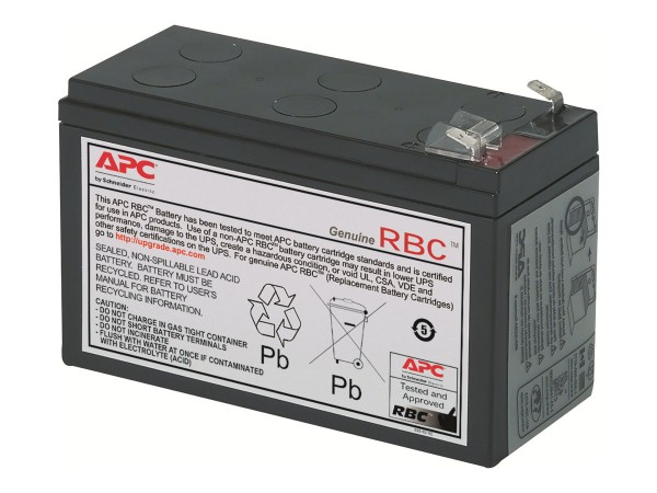APC Replacement Battery Cartridge #2 - USV-Akku - 1 x Bleisäure - Schwarz - für P/N: AP250, BE500TW,