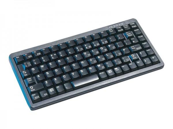 CHERRY Compact-Keyboard G84-4100 - Tastatur - PS/2, USB - Französisch - Schwarz