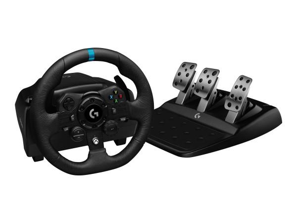 Logitech G923 - Lenkrad- und Pedale-Set - kabelgebunden - für PC, Microsoft Xbox One