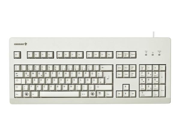 CHERRY G80-3000 - Tastatur - PS/2, USB - USA - Hellgrau