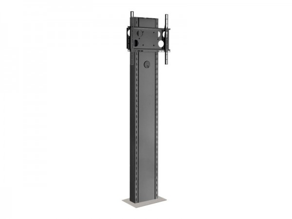 HAGOR Info-Tower Wall - Aufstellung für flat panel - Stahl - Silber, Glanzschwarz - Bildschirmgröße: