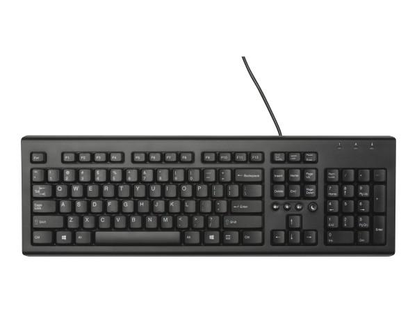 HP Classic Wired - Tastatur - USB - Deutsch - für OMEN by HP 15; OMEN Obelisk by HP 875; HP 15, 27;