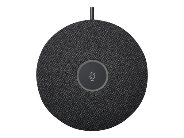 Logitech Rally Mic Pod - Mikrofon - für Large Room Solution for Google Meet, for Zoom Rooms; Medium