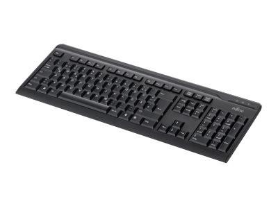 Fujitsu KB410 - Tastatur - USB - Polnisch - Schwarz - für Celsius J550, M7010, M770, W580; ESPRIMO G