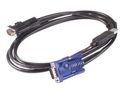 APC - Tastatur- / Video- / Maus- (KVM-) Kabel - USB, HD-15 (VGA) bis HD-15 (VGA) - 1.83 m - für P/N: