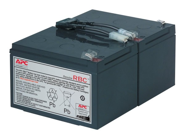 APC Replacement Battery Cartridge #6 - USV-Akku - 1 x Bleisäure - Schwarz - für P/N: SMC1500, SMC150