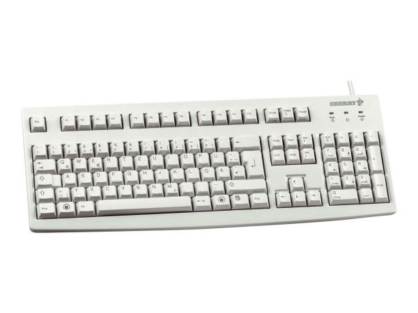 CHERRY G83-6105 - Tastatur - USB - GB - Hellgrau