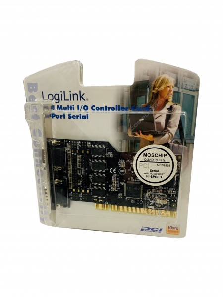 LogiLink Schnittstelle PCI Seriell 4x (PC0017) Neu & OVP