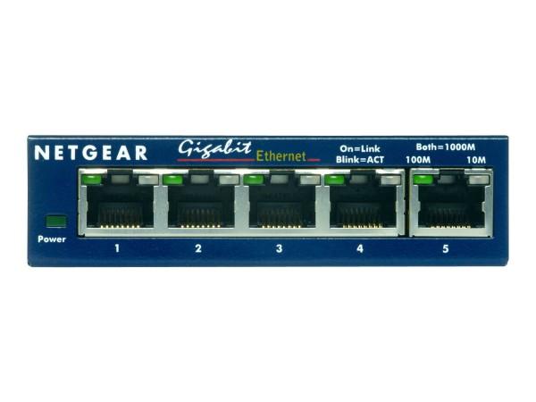 NETGEAR GS105 - Switch - 5 x 10/100/1000 - Desktop