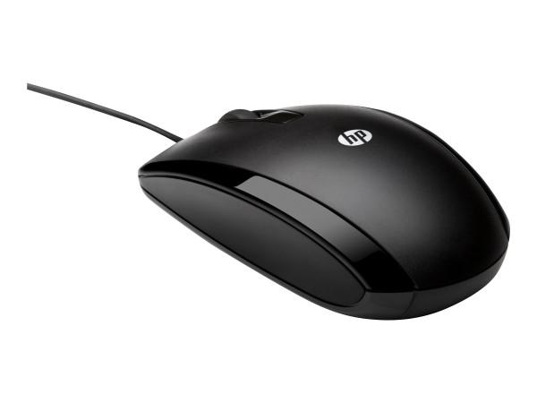 HP X500 - Maus - rechts- und linkshändig - optisch - 3 Tasten - kabelgebunden