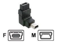 DeLOCK - USB-Verlängerungskabel - Mini-USB, Typ B (M) bis Mini-USB, Typ B (W) - 90° Stecker