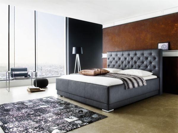 Polsterbett Bett Doppelbett Tagesbett - BARCELONA - 180x200 cm Schwarz
