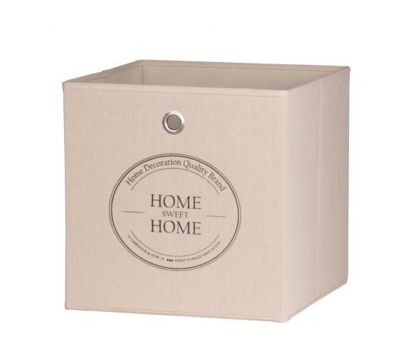 Faltbox Box - Home -32 x 32 cm / 3er Set - Beige