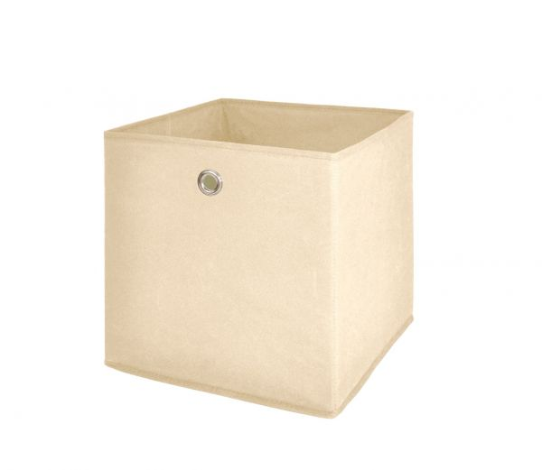 Faltbox Box Stoffbox- Delta - Größe: 32 x 32 cm / 3er Set - Beige