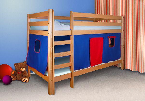 Vorhang Set Etagenbett : Vorhangset blau rot für hochbett kevin und felix fun möbel