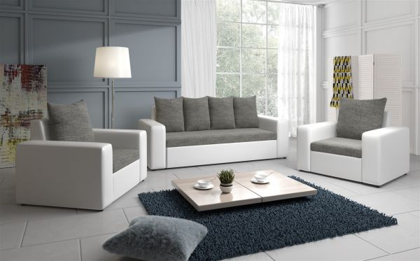 sofa set nina 3 1 1 sofagarnitur in weiss grau fun m bel rh fun moebel de