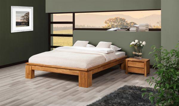 Futonbett Bett Schlafzimmerbet Maison Xl Eiche Massiv 200x200 Cm