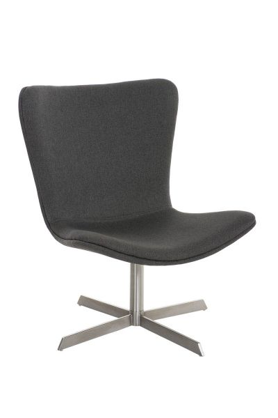 Sessel Coctailsessel Lounger - Andreas - in modernem Design in Dunkelgrau