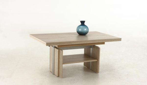 Couchtisch Tisch -Rom- 110- 177 x 68 cm Funktionscouchtisch -Sonoma Eiche