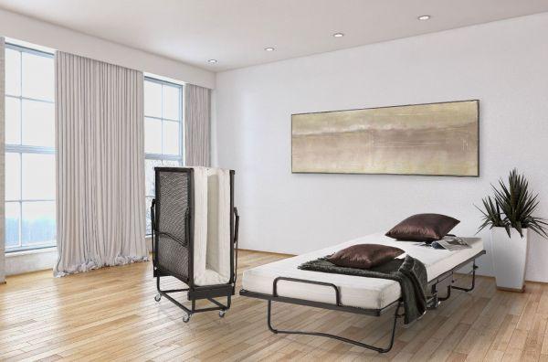 Raumsparbett Gästebett - Sleepers 4 - Komplettset Schwarz 90 x 200 cm