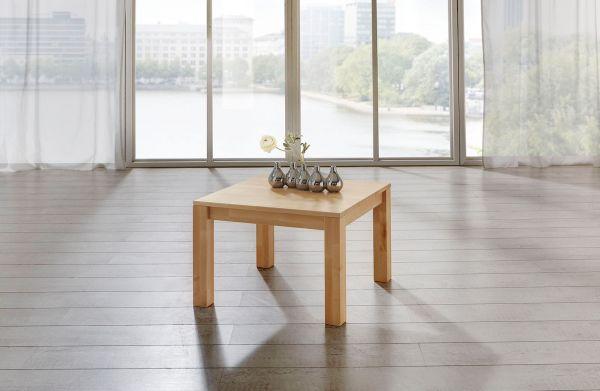Couchtisch Tisch MALTE Eiche vollmassiv / Echtholz 70 x 70 cm