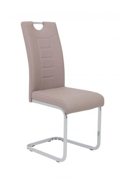 Esszimmerstühle Stuhl Freischwinger 2er Set RUBEN Cappuccino