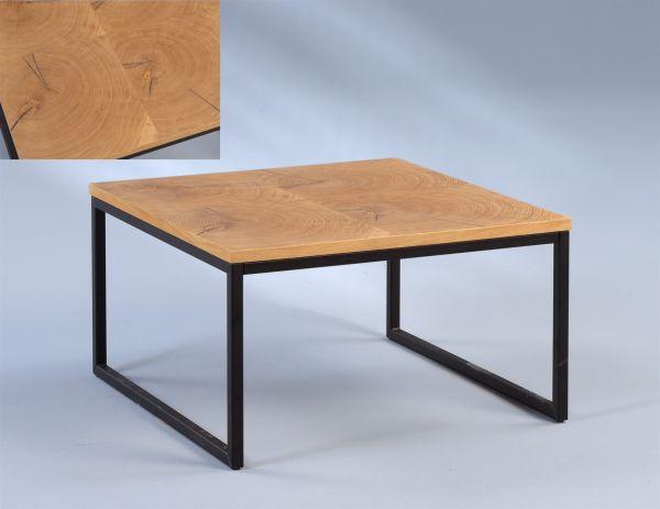Couchtisch Beistelltisch CORINA 60x60 cm Baumstammprofil/ Massivholz