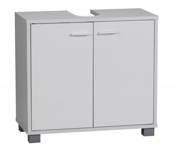 Bad Waschbecken Unterschrank - ST - 60x55x30 cm 2 Türen weiß