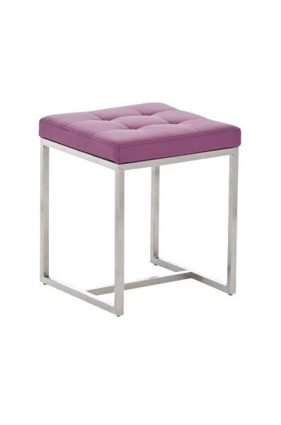 Sitzhocker - BRIT 2 - Hocker Sessel Kunstleder Lila 40x40cm