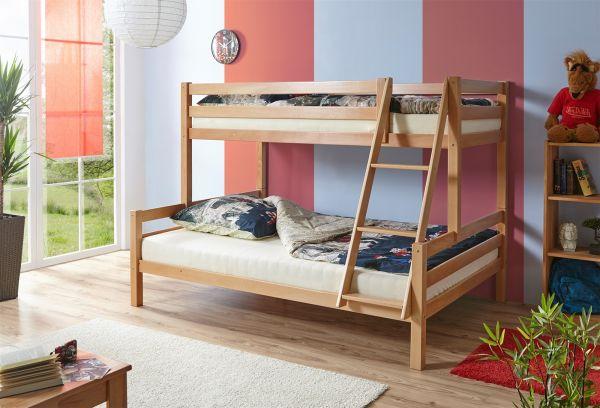 Etagenbett 180 90 : Etagenbett hochbett mats zwei liegeflächen 140 und 90 cm buche natur
