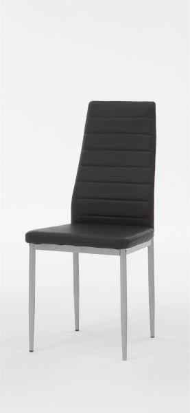 Esszimmerstühle Stühle Vierfußstuhl 4er Set SARIN Schwarz