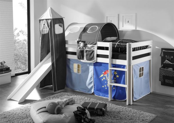 vorhang astronaut f r spielbett hochbett etagenbett fun m bel. Black Bedroom Furniture Sets. Home Design Ideas