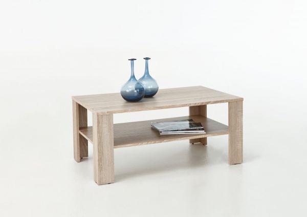 Couchtisch Tisch Loco 100x60 cm mit Ablageboden Sonoma Eiche