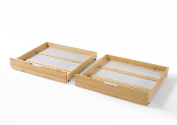Bettkasten Schubkasten Set 2 x Stück für div.Betten Kiefer Natur