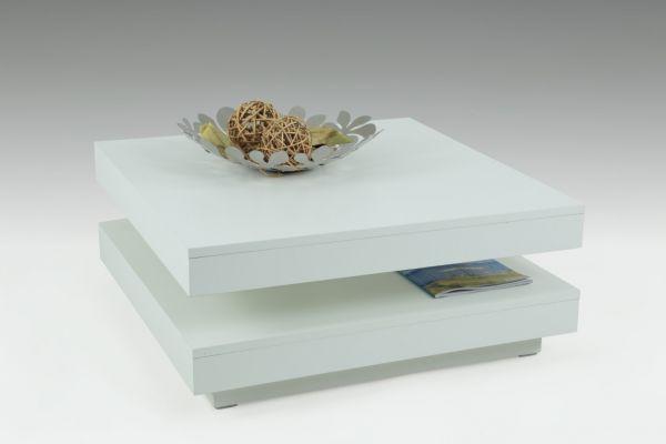 Couchtisch Beistelltisch Wohnzimmertisch - Bento- 78x78 cm Weiss