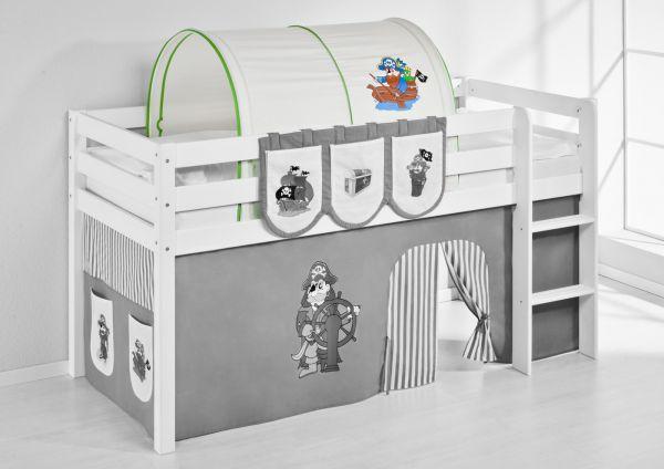 Tunnel Pirat Grün - für Hochbett, Spielbett und Etagenbett
