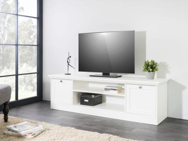 lowboard tv schrank home 160x48x45 cm im landhausstil weiss