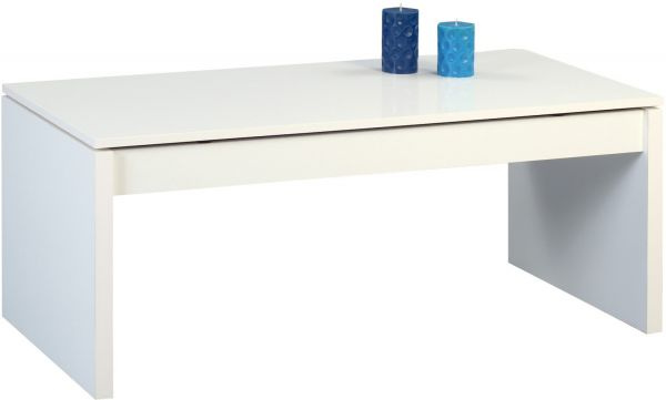 Couchtisch Beistelltisch - Trendi - 102x50 cm weiss - Hochklappbar
