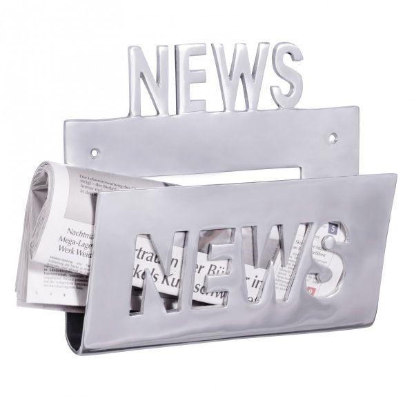 Zeitungshalter News Zeitschriftenhalter aus Aluminium Farbe Silber