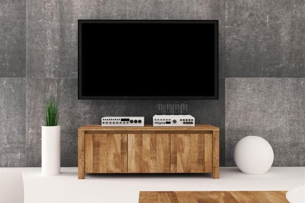 lowboard tv schrank maison buche massiv 115x43x45 cm