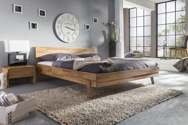 Massivholzbett Schlafzimmerbett - VIA - Bett Wildeiche 140x200 cm