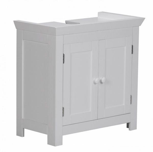 Bad Waschbecken Unterschrank - HOME - 55,5x57x30 cm 2 Türen weiß
