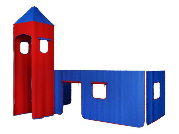 Turm BLAU-ROT für Hochbet Spielbett
