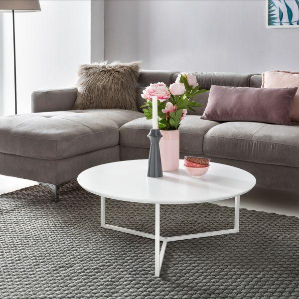 couchtisch tisch brandy mdf weiss matt gestell metall 80x80 cm fun m bel. Black Bedroom Furniture Sets. Home Design Ideas