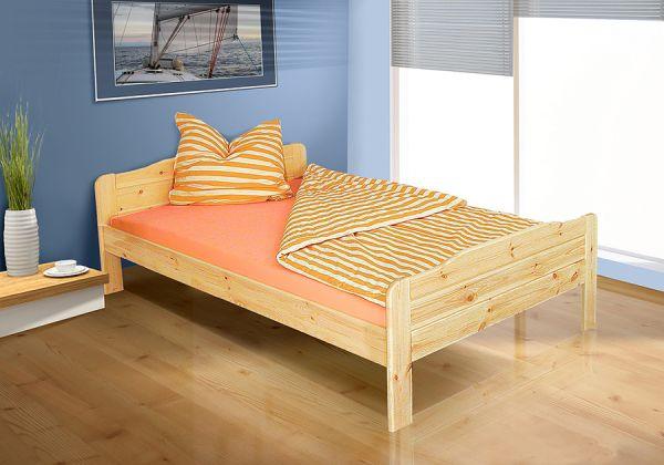 Tagesbett-Bett - WiLMA- Kiefer / Natur Lackiert ohne Rollrost 140x200 cm