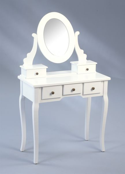 Schminktisch Sekretär ELENA in Weiß matt 80x40 cm inkl.Spiegel