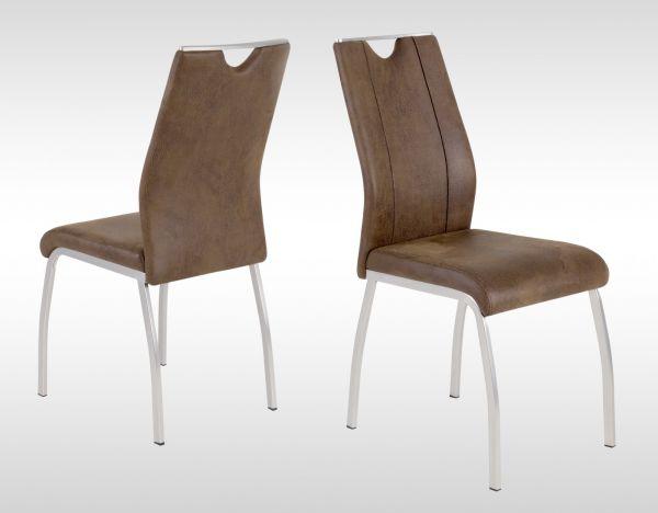 Esszimmerstühle Stuhle Vierfußstuhl 4er Set - MONACO 2 - Dunkelbraun
