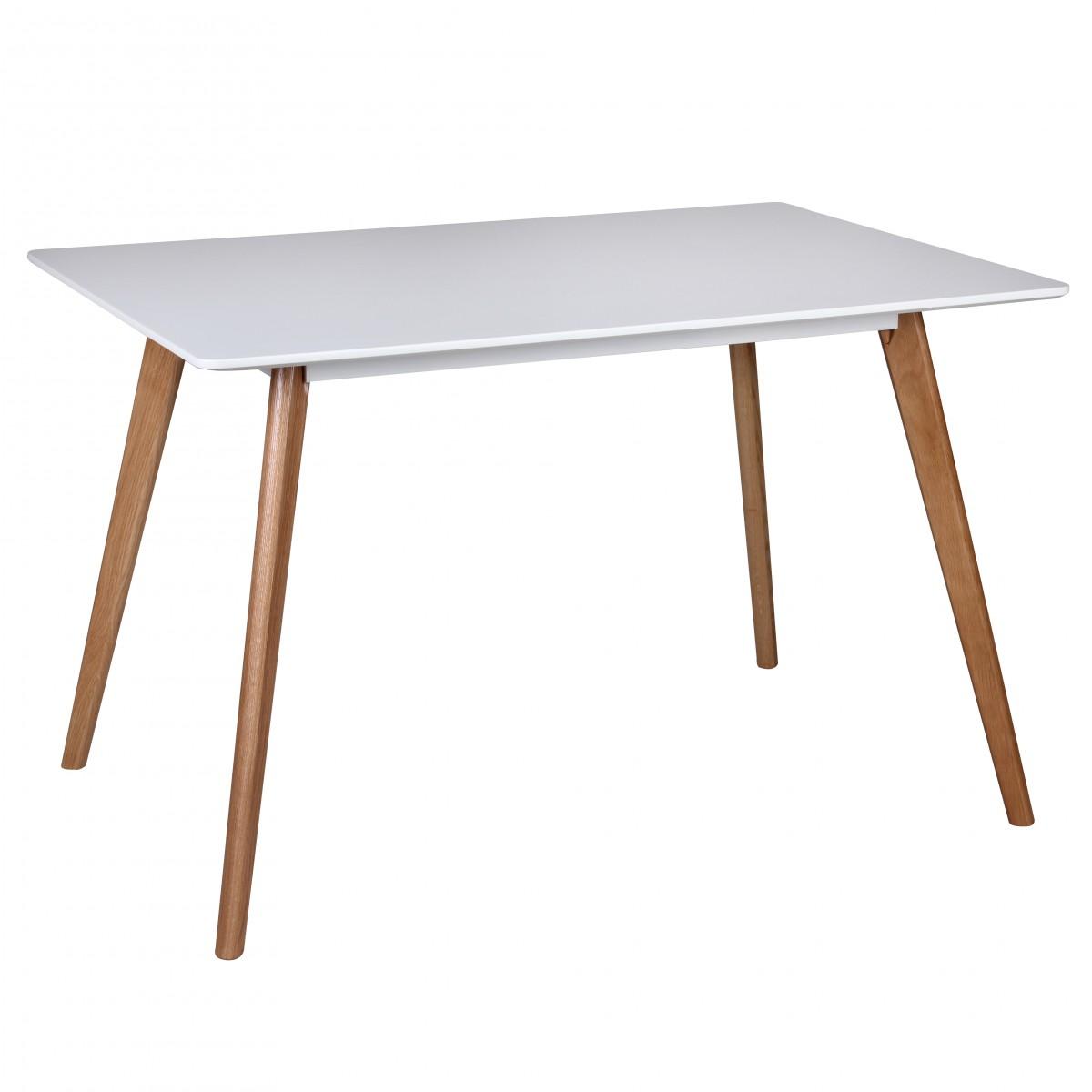 Esstisch Tisch - ELMAR - Vierfußtisch 120x80 cm MDF Weiss Matt ...