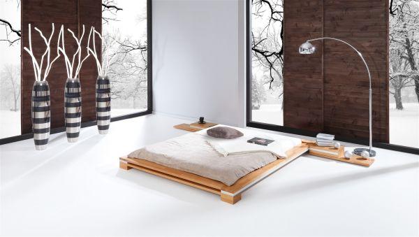 Massivholzbett Bett Schlafzimmerbett TOKYO Eiche massiv 140x200 cm